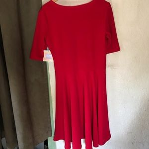 LuLaRoe Dresses - Lularoe Nicole Red Dress